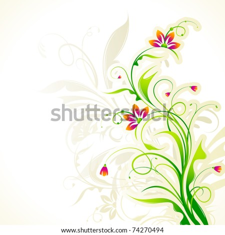 illustration of floral pattern on abstract circular background