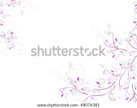 illustration of floral spring frame with copyspace for your text