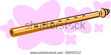 Illustration of flutes in pink background - stock vector