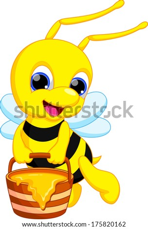 Illustration of funny bee cartoon