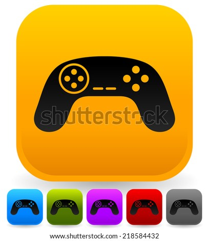 Illustration of game controllers, remotes. Pc, console gaming - stock vector