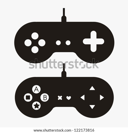 Video Games Design Over Blue Background Stock Vector 267783416 ...