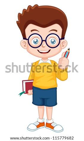 illustration of Genius Boy vector - stock vector