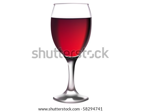 illustration of glass of red wine