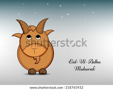Illustration of Goat for Eid-Ul-Adha  - stock vector