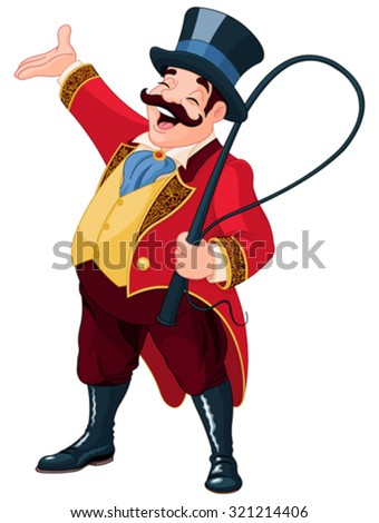 Illustration of graceful ringmaster - stock vector
