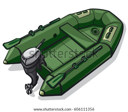 Rubber dinghy stock images royalty free images vectors for Green boat and motor
