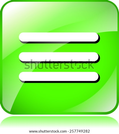 illustration of green website menu icon on white background