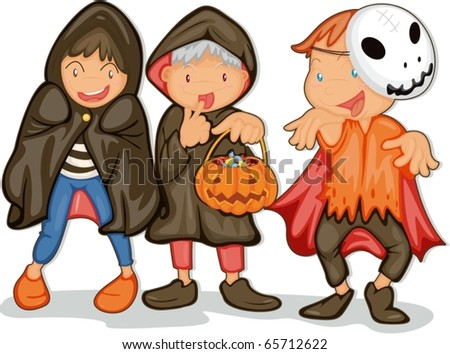 illustration of halloween  on a white background