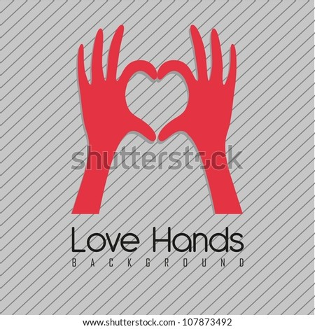 illustration of hands forming a heart, vector illustration