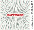 illustration of happiness concept. - stock photo