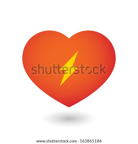 Illustration of heart  with a lightning icon