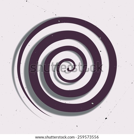 Illustration of hypnotic circle - stock vector