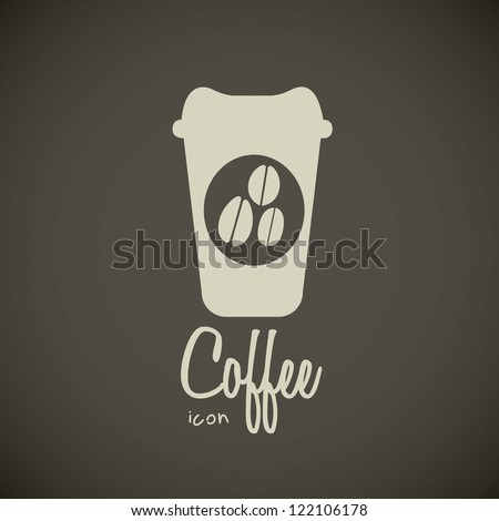 illustration of icons of coffee, cup for coffee, vector illustration