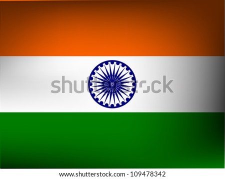 Illustration of Indian flag design for Republic Day and Independence Day Vector Illustration.