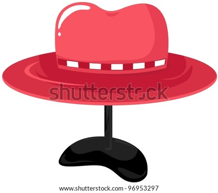 illustration of isolated colorful hat on mannequin