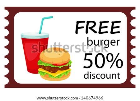 illustration of isolated Hamburger set  vector - stock vector