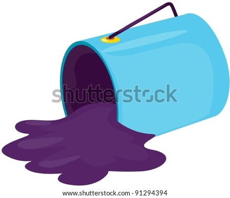illustration of isolated paint bucket on white background - stock vector