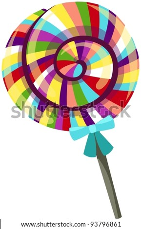 illustration of isolated rainbow candy - stock vector