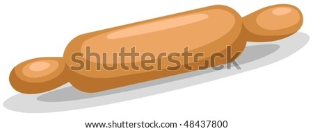illustration of isolated rolling pin on white background