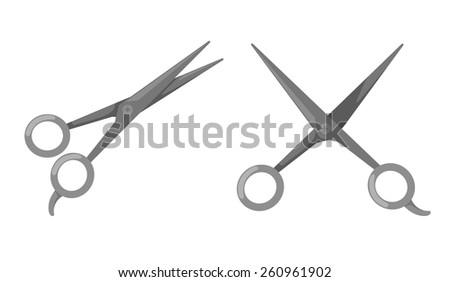 illustration of isolated scissors vector - stock vector