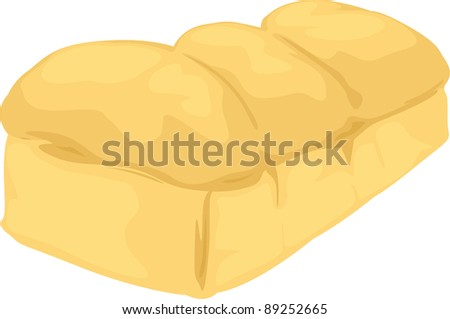 illustration of isolated sliced bread - stock vector