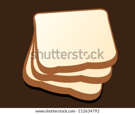 illustration of isolated sliced bread vector - stock vector