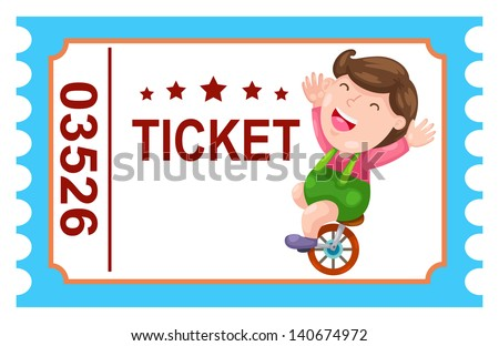 illustration of isolated ticket circus vector - stock vector