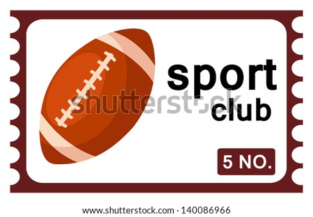 illustration of isolated ticket rugby vector - stock vector