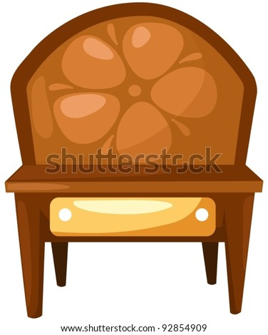 illustration of isolated wooden table on white - stock vector