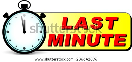 illustration of last minute stopwatch design icon