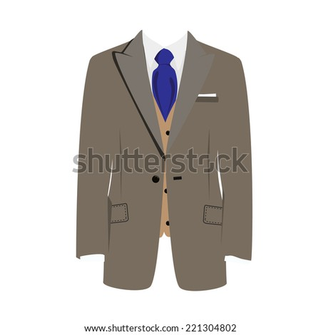 Illustration of  man suit, tie, business suit,  business, man in suit