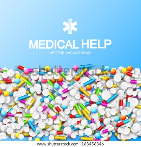 illustration of medical drugs. Vector Illustration, eps10, contains transparencies. - stock vector