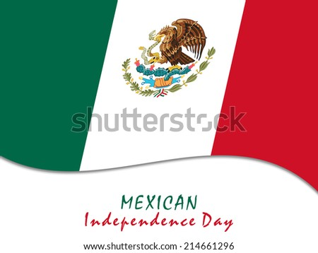 Illustration of Mexican flag for Independence Day Of Mexico