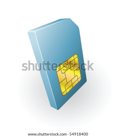 Illustration of mobile phone sim card icon clipart