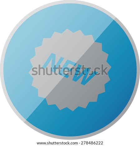 illustration of modern icon new - stock vector