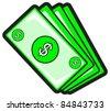 illustration of money batch - stock vector