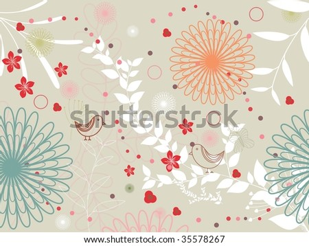 illustration of natural background, vector composition