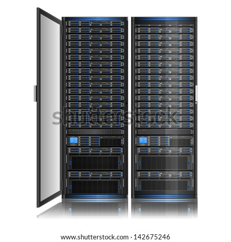 Illustration of network server, EPS 8 - stock vector