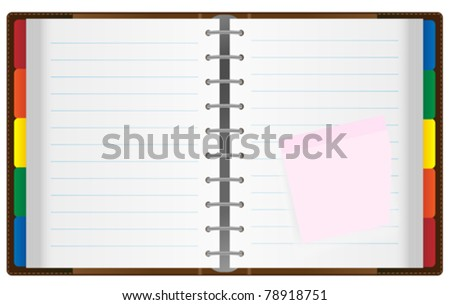 Illustration of Notebook / Organizer Isolated on White - stock vector