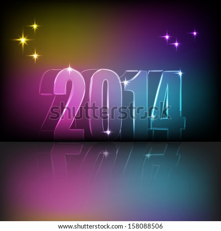 Illustration of numbers of New Year. Vector illustration for your design.