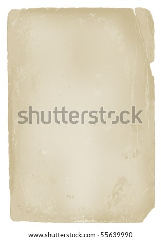illustration of old piece of paper - stock vector