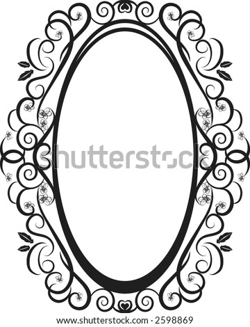 Stock Vector Illustration Of Pansies And Leaves In An Oval Frame Design Element File Contains No