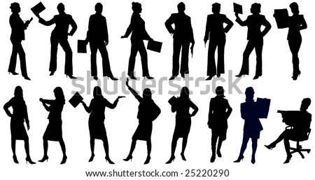 Illustration of people in reality situations - stock vector