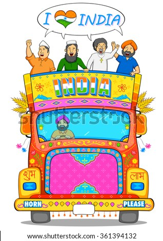 illustration of people of different religion showing Unity in Diversity of India - stock vector