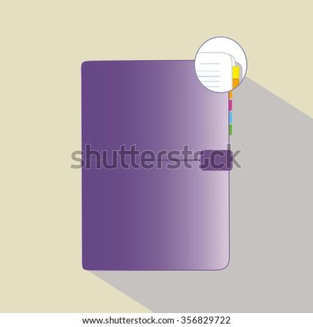 Illustration of personal organizer - stock vector