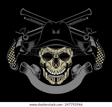 Pirate skull and guns - photo#10