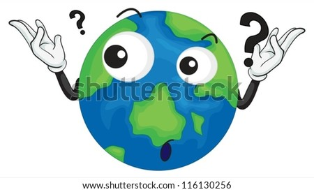 illustration of planet earth on a white background - stock vector