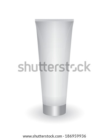 Illustration of plastic container for cream. Template