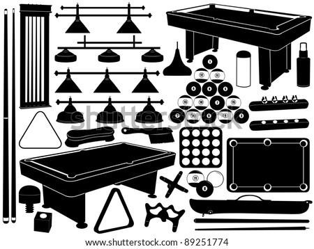 Illustration of pool equipment - stock vector